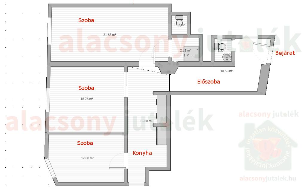 kiadó 3 szobás, 77 négyzetméteres iroda a Bajcsy-Zsilinszky úton
