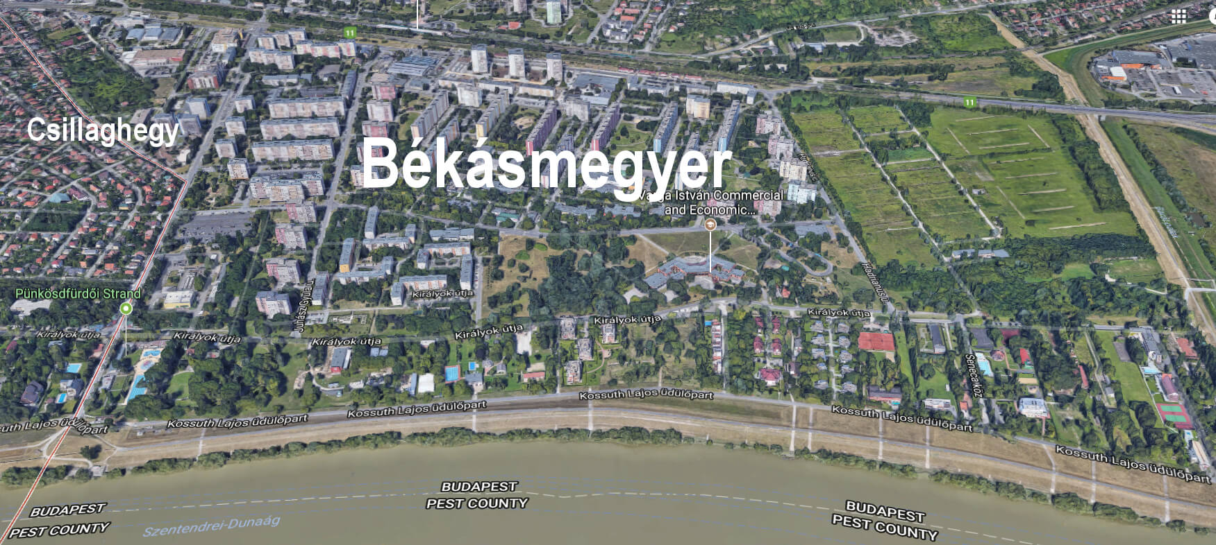 Terkep Felulrol Duna Felol Bekasmegyer Alacsonyjutalek Hu